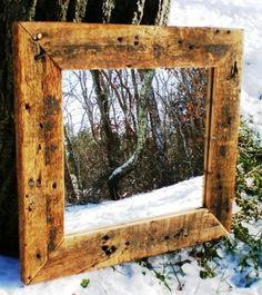 #mirrors #wood Small Rustic Barn Wood Mirror by PerfectHomeAntiques on Etsy, $55.00
