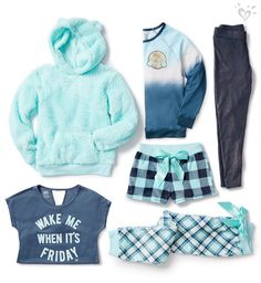 Get the blues in the best way possible. Hues ready for a soft & cozy Friday? Cute Comfy Outfits, Cute Girl Outfits, Kids Outfits Girls, Cute Outfits For Kids, Girly Outfits, Comfortable Outfits, Cool Outfits, Girls Fashion Clothes, Tween Fashion