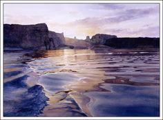 """""""Homeward Bound Wake"""" by Watercolor Artist David Drummond"""