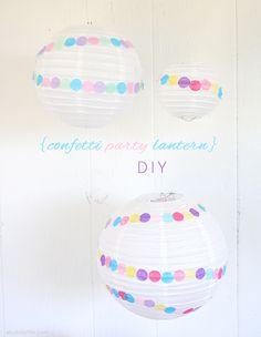 A Bubbly Life: Confetti Party Lantern DIY