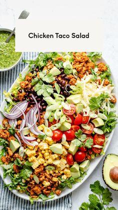 Best Salad Recipes, Salad Dressing Recipes, Lunch Recipes, Summer Recipes, Dinner Recipes, Cooking Recipes, Healthy Recipes, Healthy Tacos, Healthy Salads