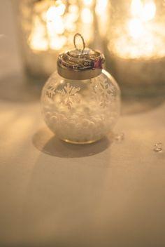 Pink Diamond wedding and engagement rings winter wedding