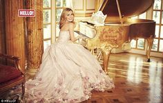 'She has enriched us as a couple': Katherine Jenkins stuns in floral gown as she reveals daughter Aaliyah has 'completed' her marriage to Andrew Levitas Opera Dress, Queen 90th Birthday, Hello Magazine, Katherine Jenkins, Floral Gown, Top Celebrities, Female Singers, Aaliyah, Beautiful Dresses