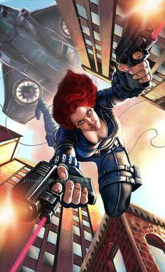 Black Widow by earache-J on DeviantArt Avengers Characters, Comic Book Characters, Comic Character, Marvel Girls, Marvel Heroes, Marvel Avengers, Marvel Women, Marvel Lee, Avengers Shield