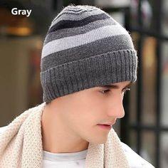 Mens knit hats striped design winter hats Mens Knit Beanie, Knit Hat For Men, Knit Hats, Hats For Men, Beanie Hats, Sport Wear, Stripes Design, Winter Hats, Wool