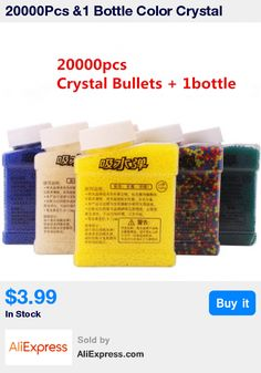 20000Pcs &1 Bottle Color Crystal Paintball Bullet Water Soft Bullets Nerf Gun Toy Gun Accessories Crystal Mud Soil Orbeez Ball * Pub Date: 00:44 Feb 12 2017