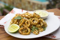 Cajun-spiced Calamari with Basil and Lime Mayonnaise - Sarah Graham Food