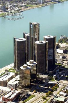 The first phase constructed a five tower rosette rising from a common base. Two additional office towers (known as Tower 500 and Tower opened in Renovated in Detroit Skyline, Detroit Rock City, Detroit Michigan, Renaissance Center, Detroit History, Great Lakes, Aerial Photography, Rafting, Towers