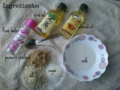 Oats and Peanuts, Face and Body Scrub, DIY