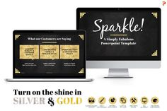 Sparkle Gold & Silver PPT Templates by Blixa 6 Studios on Creative Market