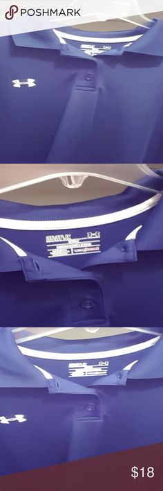 Navy blue Under Armour polo, like new Navy blue Under Armour polo, like new Under Armour Shirts Polos