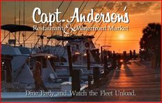 Dock your yacht at Captain Anderson's for dinner at the Seafood Restaurant chosen by Southern Living readers every year from 1996 to and one of America's Top Fifty restaurants selected by Restaurants & Institutions. Panama City Beach Restaurants, Panama City Beach Florida, Panama City Panama, Vacation Places, Vacation Spots, Places To Travel, Monument Colorado, Camping Spots, Childhood Memories