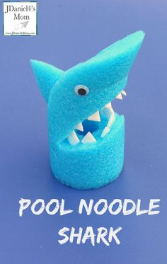 Using items like an egg carton and pool noodle makes the arts and crafts your kids create unique. What fun we had creating a pool noodle shark with them! Shark Activities, Craft Activities, Vocabulary Activities, Preschool Crafts, Summer Crafts, Crafts For Kids, Arts And Crafts, Rock Crafts, Kids Diy