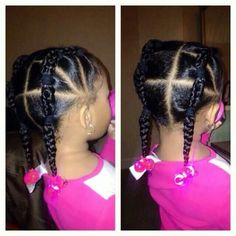 Little Girls Ponytail Hairstyles, Little Girl Ponytails, Black Baby Hairstyles, Natural Hairstyles For Kids, Kids Braided Hairstyles, Girls Braids, Natural Hair Styles, Toddler Hairstyles, Simple Ponytails