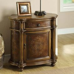 Monarch Traditional One Drawer Bombay Cabinet - Light Brown | from hayneedle.com