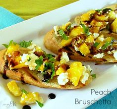 Need an elegant yet quick appetizer? Grilled Peach Feta Bruschetta comes together in minutes and makes an impressive display, serve with balsamic reduction.