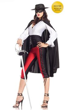 "Be Wicked! Sexy 6-Piece ""Sexy Bandit"" Women's Costume Heroes Party BW1122"