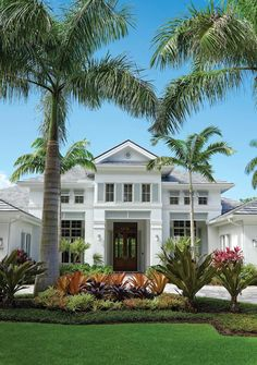 Lush landscaping and serene vistas provide the setting for this home's British West Indies-style architecture in the very desirable Naples community of the Moorings. West Indies Style, Key West Style, British West Indies, West Indies Decor, Beach Cottage Style, Coastal Cottage, Beach House, Coastal Homes, Colonial Exterior