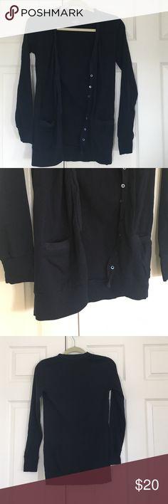 J.Crew Navy Boyfriend Cardigan 2 pockets, button down. Perfect Fit line J. Crew Sweaters Cardigans