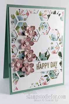 Hexagon Hive Birthday by patstamps2001 - Cards and Paper Crafts at Splitcoaststampers