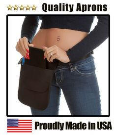 made in USA Quality Black Single Pocket Tablet Holster Pouch apron and belt