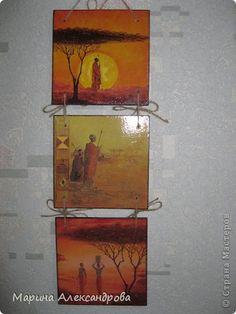 Поделка изделие Декупаж Лепка Часы шкатулки панно  Краска Салфетки Фанера фото 14