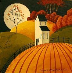 autumn pumpkin farm art - Google Search