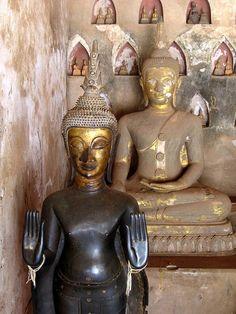 Buddhas, Wat Si Saket, Vientiane