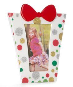Loving this White & Red Glitter Frame on #zulily! #zulilyfinds
