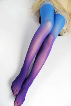 Tie-dyed Velvet Blue Tights
