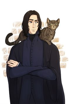 """""""a belated birthday drawing for severus snape feat. Harry Potter Severus Snape, Harry Potter Wizard, Harry Potter Artwork, Harry Potter Anime, Harry Potter Facts, Harry Potter Universal, Draco Malfoy, Professor Severus Snape, Severus Rogue"""