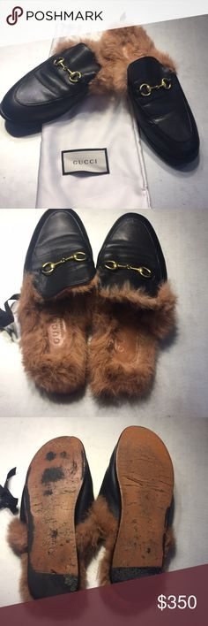 a24c4e3bb28 Gucci fur loafers Authentic Gucci fur loafers. In good used condition. Sole  is somewhat worn