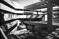El Colegio de México in Mexico City, designed by Abraham Zabludovsky and Teodoro González de León in the Brutalist style (1975)