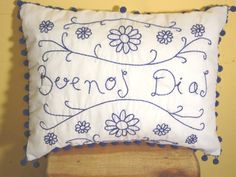 Hand Embroidered Pillows - LaMariposa Mexican Imports - Folk Art, Mexican Dresses, Blouses, Sombreros, Pinatas, Fiesta Party Supplies, and Paper Flowers Dallas, Texas