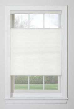 Window Images™ Bottom Up/Top Down Light Filtering Cordless Cellular Shade x White Door Shades, Shades Blinds, Bedroom Blinds, Diy Blinds, Cellular Shades, Modern Blinds, Bathroom Windows, Downlights, Window Treatments