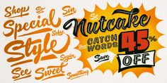 Nutcake CatchWords Font Download #font #typeface #typography Summer Font, Creative Fonts, Pencil And Paper, Word Design, Free Fonts Download, New Words, Hand Lettering, Typography, Photoshop