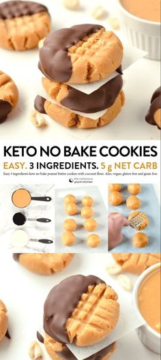 THE BEST NO BAKE Peanut Butter Cookies Keto vegan .hat I can only eat desserts that are low in carbs and low in sugar. Low carb desserts vary greatly - some are much tastier than others. Keto Cookies, Keto Peanut Butter Cookies, Healthy Cookies, Shortbread Cookies, Cookies For Diabetics, Nutter Butter, Almond Cookies, Chip Cookies, Low Carb Desserts