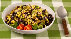 Black Bean Corn Salsa - Recipes - Best Recipes Ever - As well as enjoying it with grilled meats, this chunky salsa is great as a side salad or with tortilla chips.