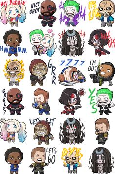 SUICIDE SQUAD Facebook Stickers Make Task Force X Ridiculously Adorable