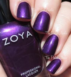 Zoya:  Giada  ...  a deep purple with a subtle pink shimmer from the Zoya Fall 2015 Flair Collection Swatches & Review