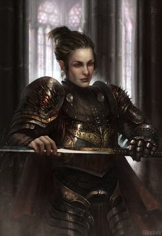 """aboleth-eye: """"frosty-the-snowden: """" onion-souls: """" foxy-nerdy: """"Spiky Knight by Christof Grobelski """" We need more dark knights who are just tired moms """" Her son's starting a job as a dark wizard. Dark Fantasy, Fantasy Armor, Medieval Fantasy, Fantasy Portraits, Character Portraits, Character Art, Character Concept, Character Design, Inspiration Drawing"""