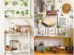 Sombreros de paja, objetos de madera, cestos de mimbre #decoracion #natural
