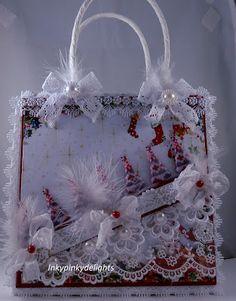 Inkypinkydelights: CHRISTMAS ALTERED GIFT BAG