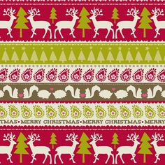 Woodland Stripes Printed Gift Wrap - Half Ream - Gift Wrap - Holiday Collection