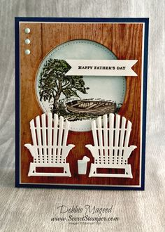 Revisiting Moon Lake for a Stampin' Up! Father's Day Card