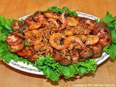 retete creveti Healthy Recipes, Healthy Food, Shrimp, Strawberry, Food And Drink, Samurai Tattoo, Chicken, Calamari, Pineapple