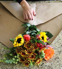 How to wrap flowers in paper flowers arrangement wrap flowers – calicrest Wrap Flowers In Paper, How To Wrap Flowers, Diy Flowers, Flower Decorations, Bohemian Flowers, Bouquet Wrap, Paper Bouquet, Diy Bouquet, Cut Flower Garden
