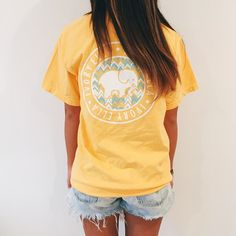 yellow ivory ella tee