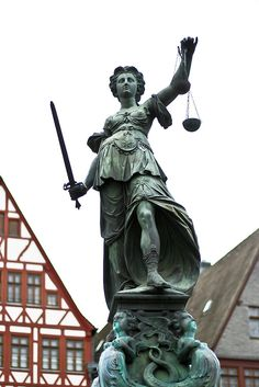 Statue Of Lady Justice In Frankfurt | Germany | Flickr - Photo ...