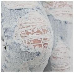 lace+destroyed denim